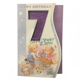 HAPPY 7TH BIRTHDAY CARD GGC530
