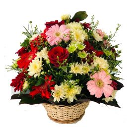 Mix Flower Basket - Medium Size