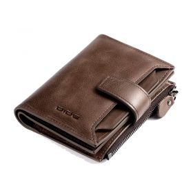 Genuine Leather Bifold Wallet Purse