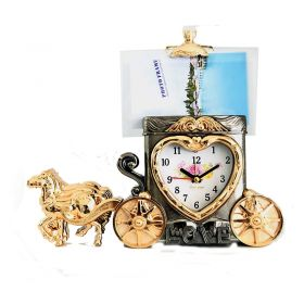 Horse Cart With Clock and Photo Frame