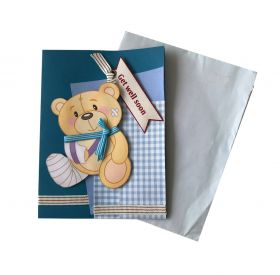 Get Well Soon Card - Blue