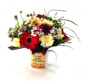 To My Husband Mug With Flowers