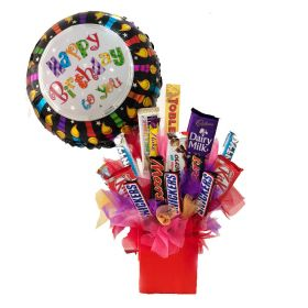 Chocolates With Foil Balloon